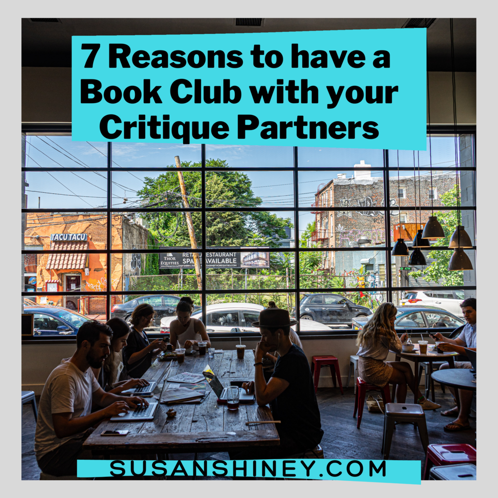 featured-image-bookclub-with-your-critique-partners-susan-shiney-writing-group-how-to-setup-writers-talking-in-a-cafe