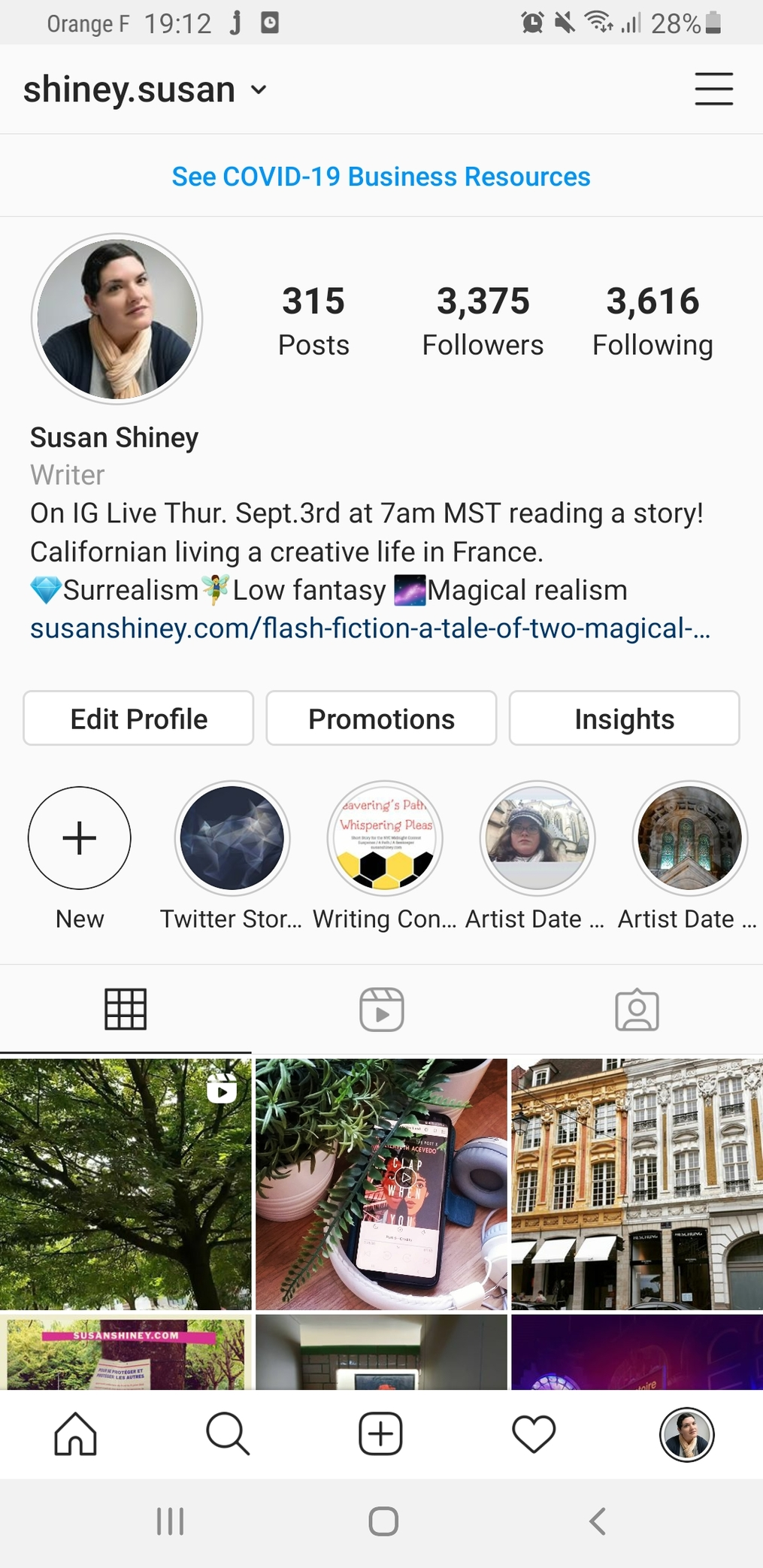 Instagram-Profile-with-announcement-of-times-for-the-IG-Live-for-Writers-Instagram-Live-for-writers-susan-shiney-for-the-just-a-spell-teaser-reading-series-with-lou-britt