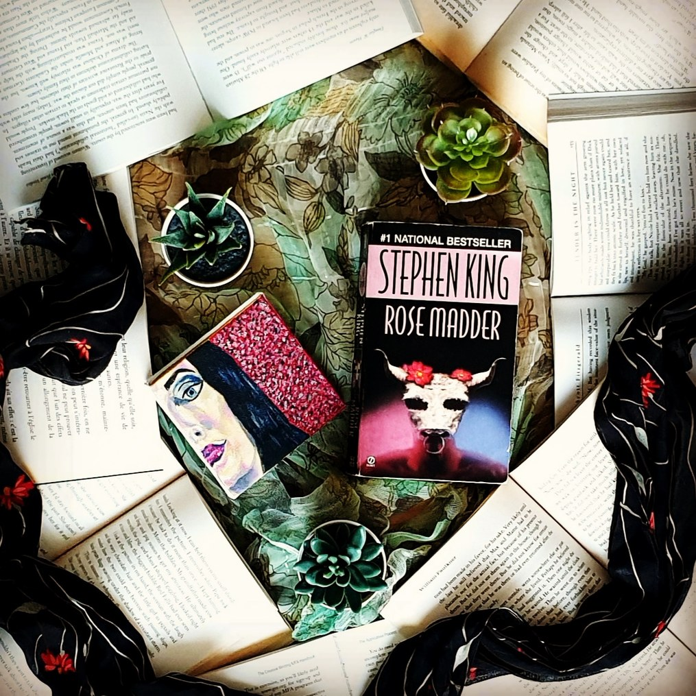 Stephen-King-Rose-Madder-with-a-painting-bookstagram-for-authors-susan-shiney-authors-as-bookstagrammers