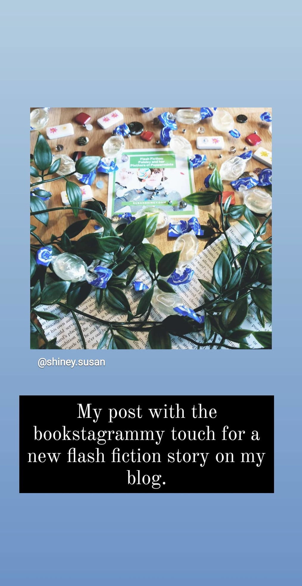 My-strategies-Instagram-Stories-for-Writers-susan-shiney-sharing-a-blog-post-announcement-refering-to-a-video-how-to-use-instagram-stories