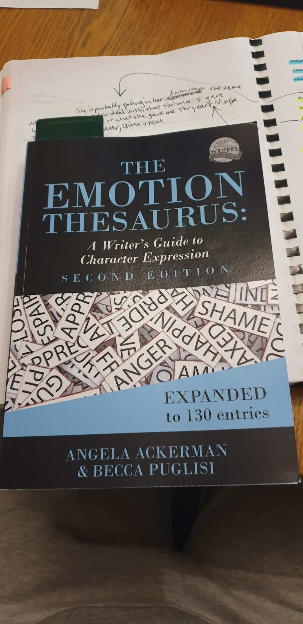 Emotional-Thesaurus-line-editing-my-step-by-step-process-susan-shiney-writing-craft-books