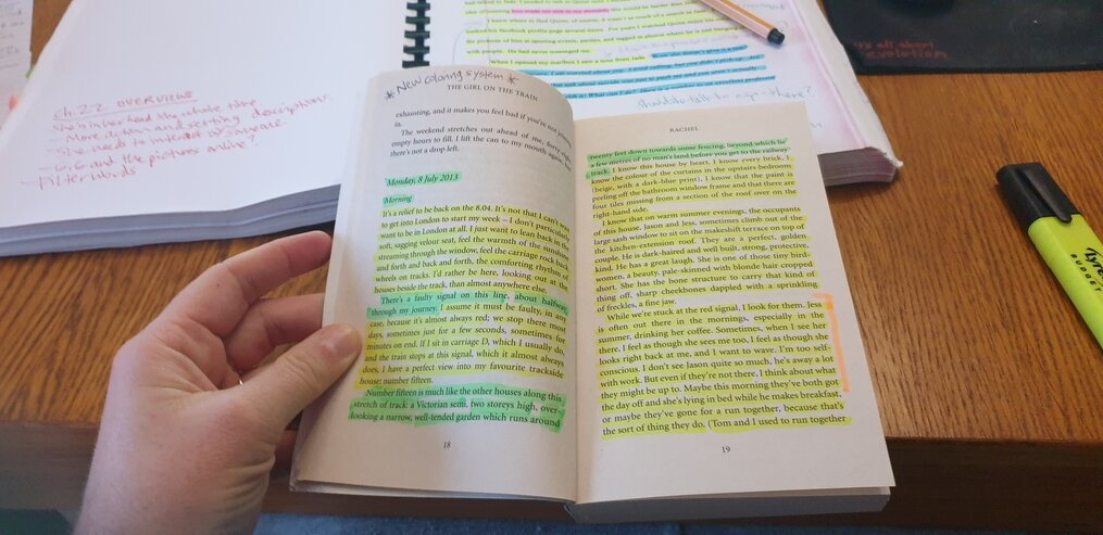 Book-Studying-line-editing-my-step-by-step-process-susan-shiney-color-coded-editing
