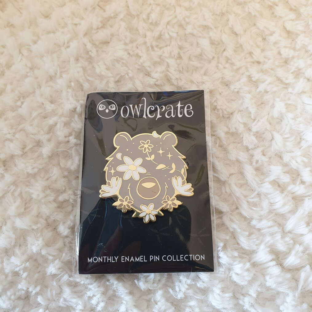 Enamel-Pin-Magical-bear-Ashley-Poston-Among-the-Beasts-and-Briars-Owlcrate-november-2020-subscription-box-spoilers-growing-wild