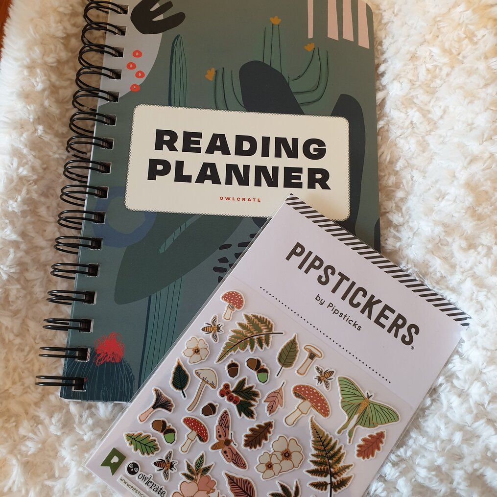 Reading-Planner-by-Blue-Star-Press-planner-stickers-by-pipsticks-Owlcrate-november-2020-subscription-box-spoilers-growing-wild.