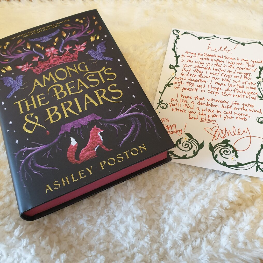 Sprayed-Edges-Letter-from-the-author-Ashley-Poston-Among-the-Beasts-and-Briars-Owlcrate-november-2020-subscription-box-spoilers-growing-wild.