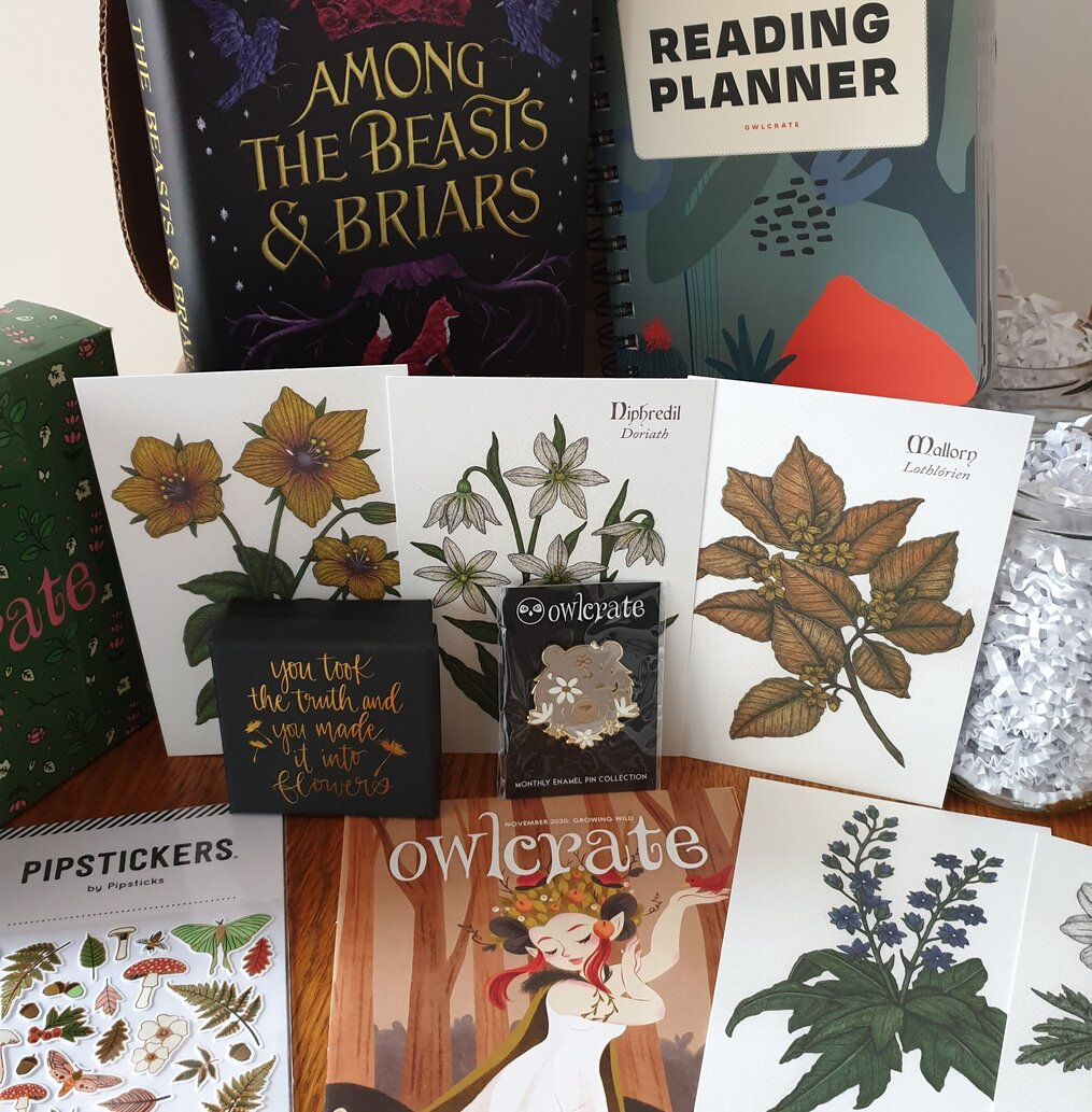 Unboxing-Owlcrate-november-2020-subscription-box-spoilers-growing-wild