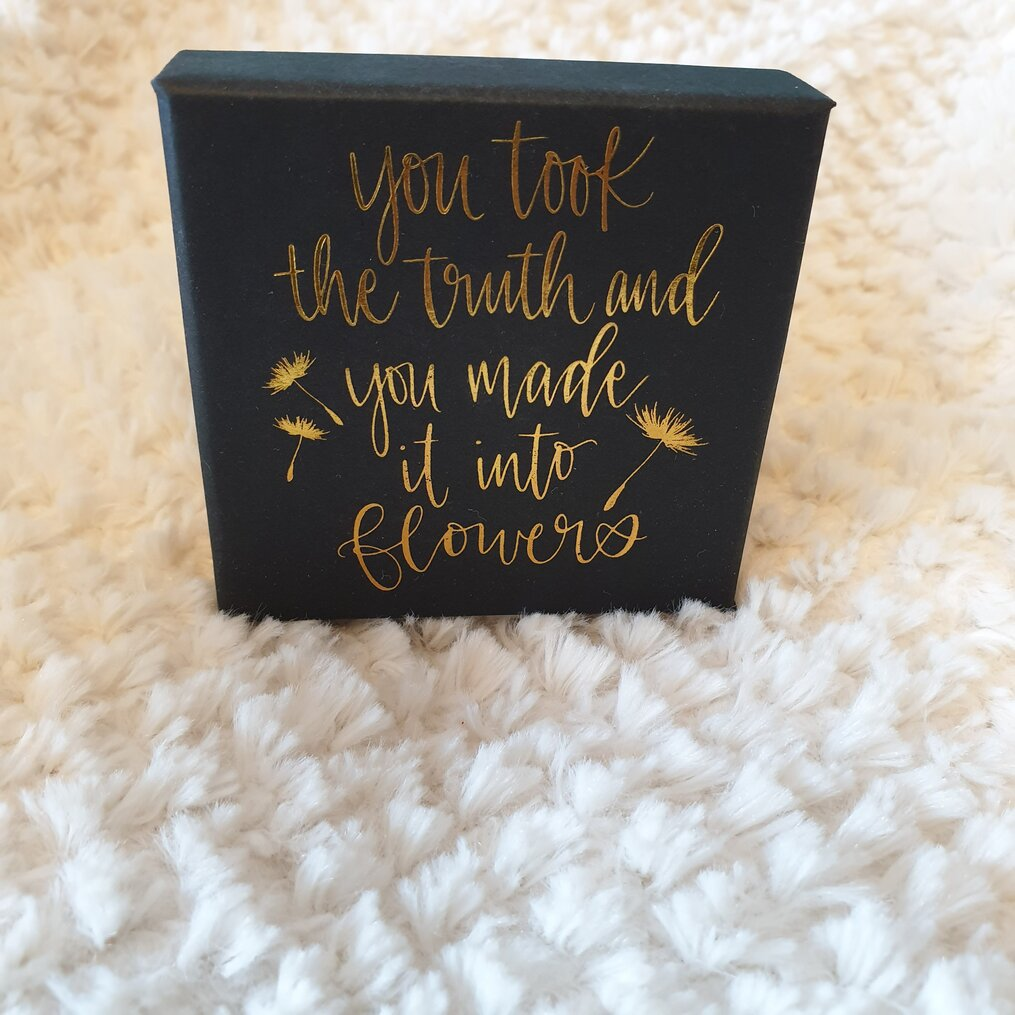 Wild-Beauty-by-Anna-Marie-McLemore-Quote-on-necklace-box-Owlcrate-november-2020-subscription-box-spoilers-growing-wild-studio-kyra-dandelion-pendant